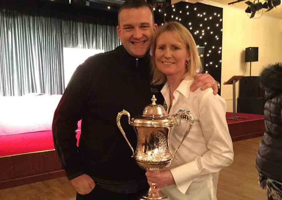 Mark McGeeney and Trina Gulliver MBE , 10 Time Ladies WOrld Darts Champion